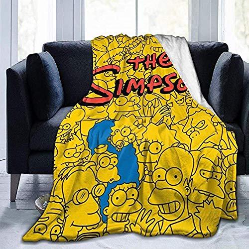 HUA JIE Mantas De Cama The Sim-PsonsManta DeMicrofibrapara Mujeres Hombres Niños Niñas para Silla Sofá Cama Coche Dormitorio Oficina En Casa