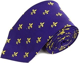 Fleur-de-lis Purple and Yellow Novelty Tie