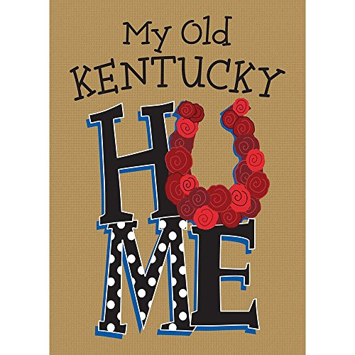 Magnolia Garden My Old Kentucky Home Rustic Taupe 13x 18rechteckig, Klein, Garten Flagge