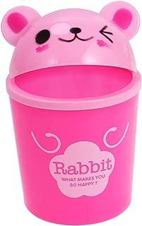 TOYMYTOY Desktop Trash Can Cartoon Animals Wastebasket Rubbish Storage Bin Mini Garbage Organizer (Pink Rabbit)