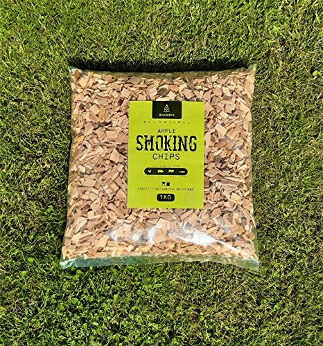 Woodabrix Natural Smoking Wood Chips for BBQ/Smoker, 1 kg, (4 Litre), Apple