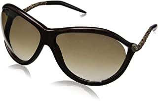 Roberto Cavalli CAPH RC853S - 71F INJECTED SUNGLASSES Bordeaux Brown w/ Brown Gradient 67MM