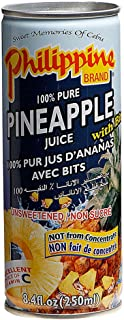Philippine Pineapple Juice With Bits, 250 ml, Pack of 3, Product of Philippines