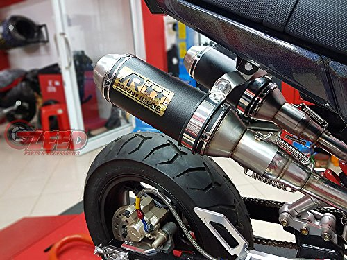 Aodonly Racing Dual High Mount Exhaust for Honda Grom MSX 2013-2019 All Model