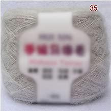 Worsted Soft Thin Mohair Yarn Cashmere Hand Knitting Crochet Thread DIY Shawl Scarf Yarn 35