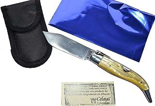Couteau Celaya Classic Albacete Aluminium Pastora Plastique Jaune 7 cm