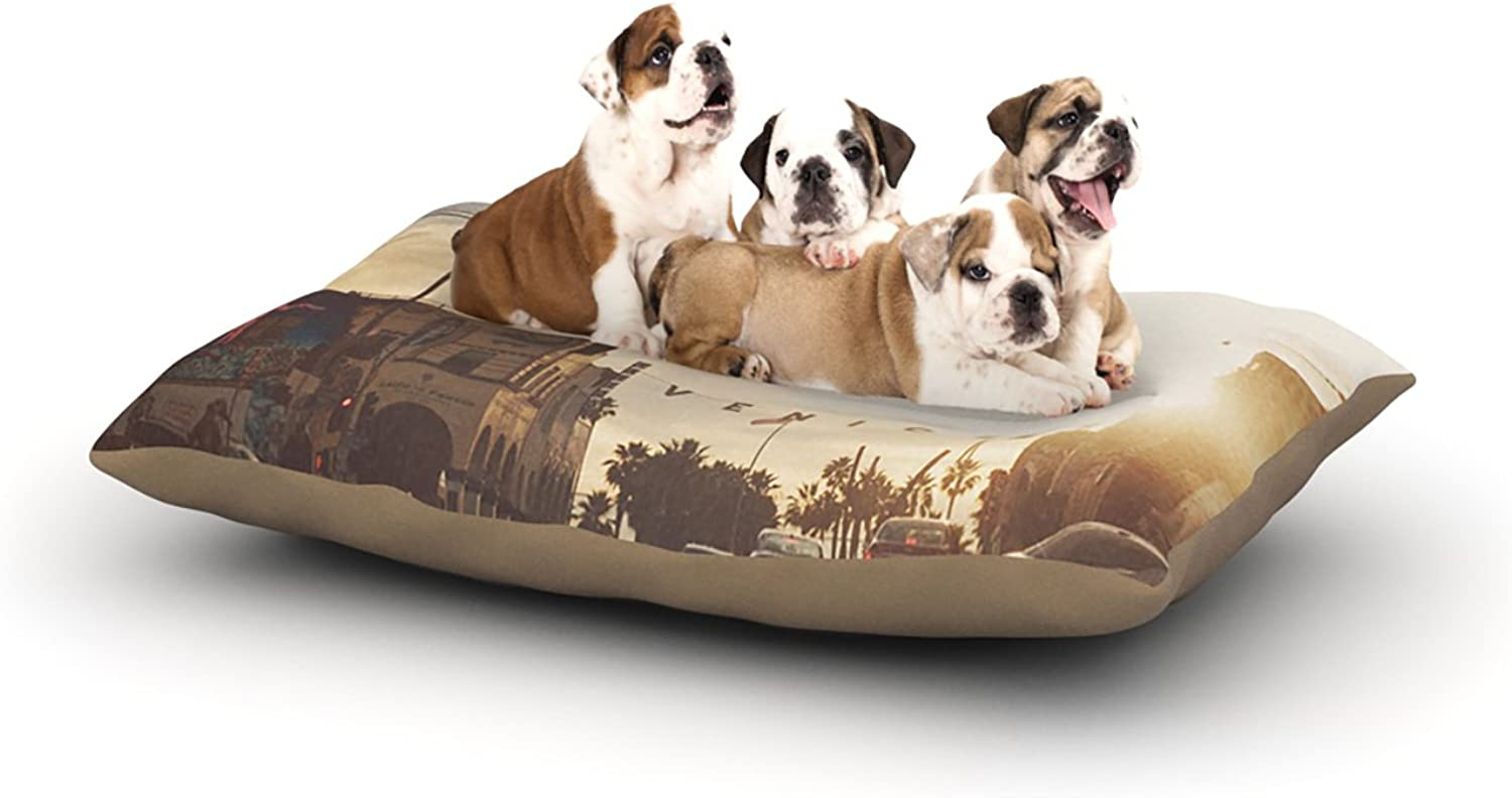 Kess InHouse Myan Soffia Winter in Venice  Clouds Sky Dog Bed, 30 by 40Inch