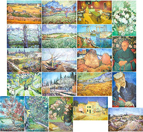 Set of 20 Unframed Art Prints of Vincent Van Gogh Paintings (13 x 19