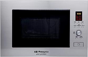 Orbegozo MIG 2330 - Microondas con grill integrable full INOX, 23 litros, 6 niveles de potencia, 8 menús de cocción automática, display digital, potencia 1400 W microondas y 1000 W grill