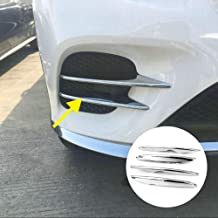 Chrome Front Corner Mesh Grill Molding Side Air Vent Cover Trim For Mercedes Benz GLC GLC300 GLC-Coupe 2016 2017 2018 2019 Car Exterior Accessories
