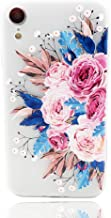 LEMONCOVER Phone Case Compatible with iPhone XR Case,Tropical Colorful Flower Printed Slim Fit for Girls Soft Bumper Shockproof Matte Cover Pink Rose Design Case for iPhone Xr 9 6.1