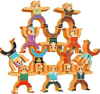 CORPER TOYS 積み木 バランス積み木 バランスおもちゃ 積み上げ お着替えパズル パズル くまシリーズ かわいい 男の子 女の子 積み木おもちゃ 室内おもちゃ クマ 動物 バランスゲーム クリスマス プレゼント