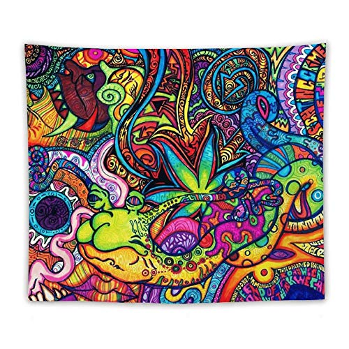 Wtisan Psychedelic Trippy tapestry Wall Tapestrys Hanging Tapestries Blanket Wall Mandala Yoga Decoration for Bedroom Living Room Personalized