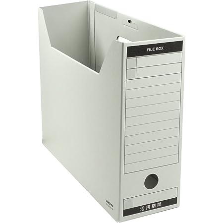 コクヨ ファイルボックス 色厚板紙 フタ付き A4 グレー A4-LFBN-MZ