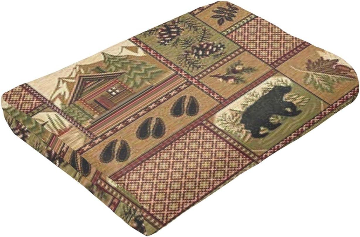 Woodland Deer Fish Bear Lightweight Microfiber Blankets Flannel Manufacturer Bargain sale OFFicial shop