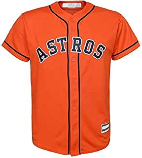 Outerstuff Houston Astros Blank Word Mark Orange Youth Cool Base Alternate Jersey