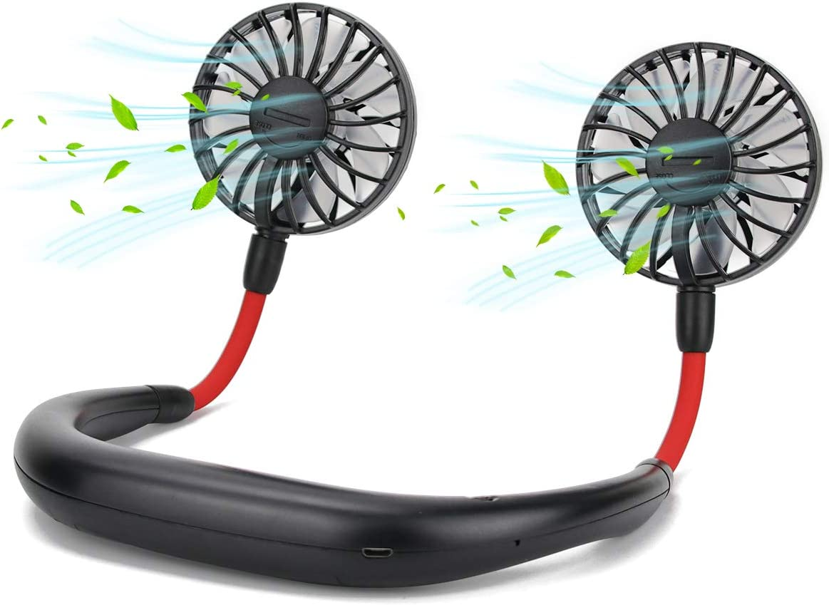 Acescen Hanging Neck Fan Courier shipping free shipping wholesale Portable Rechargeable Battery USB Opera