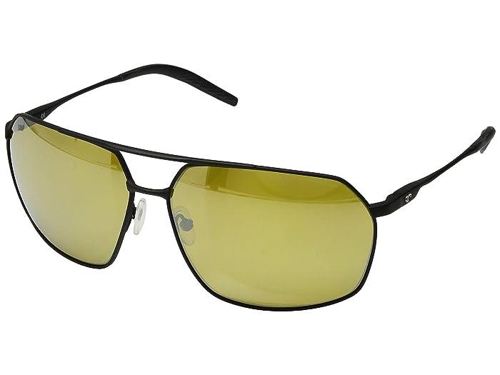 Costa  Pilothouse (Matte Black/Matte Black/Black/Sunrise Silver Mirror 580P) Athletic Performance Sport Sunglasses