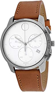 Movado Bold Thin Chronograph Quartz White Dial Men's Watch 3600631