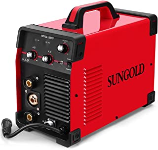 SUNGOLDPOWER 200Amp MIG MAG ARC MMA Stick DC Welder 110/220V Dual Voltage IGBT Inverter 200A Aluminum Welding Soldering Machine Gas Shielded/Gasless Flux Cored Wire Solid Core Wire Welding Equipment
