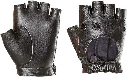 3265046f7 Warmen Women's Punk Performance Fingerless Half Finger GYM Cycling Driving  Open Back Unlined Leather Gloves