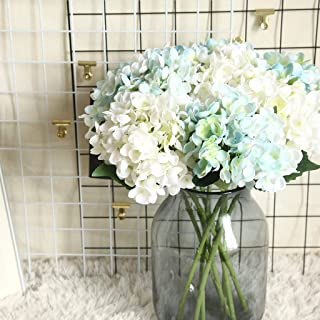 Gotian Artificial Flower Hydrangea Fake Silk Flower Home Wedding Party Floral Decor, Suitable for Creating Floral Displays and Adding Color and Style Decoration (G)