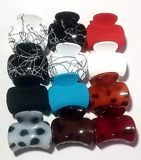 S R SELECTION Women's Plastic Hair Clutcher/Claw Clip (Medium, Multicolour) - Pack of 12