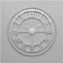 ساعة حائط كبيرة، ساعة حائط قديمة الطراز الطراز أوروبي، ساعة حائط رقمية رومانية، ساعة حائط معدنية، ساعة حائط داخلية صامتة ت...