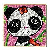 DATOU Kits De Alfombra De Gancho De Pestillo con Patrón De Lienzo Impreso Crochet Costura De Crochet Crafts Kits De Bordado(Size:48x48cm)
