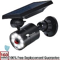 DrawGreen Solar Lights Outdoor Motion Sensor, 1400-Lumen Bright LED Spotlight 9-Watt (130W Equiv.)