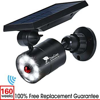 DrawGreen Solar Lights Outdoor Motion Sensor 1400-Lumens LED Spotlight