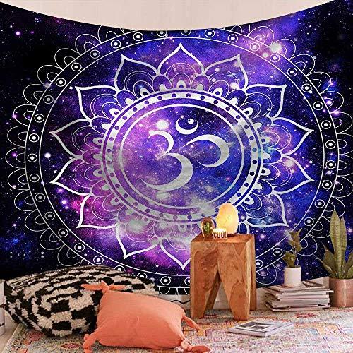 Tapiz de piel de melocotón Mandala indio Chakra Sol Luna Granja Fondo decorativo Colgante Tapiz bohemio Renovación de la pared Decoración 150x200cm / L
