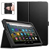 Dadanism Case for All-New Kindle Fire HD 8 Tablet(10th Generation 2020 Release) & Fire HD 8 Plus, Premium PU Leather Lightweight Slim Smart Stand Cover with Auto Wake/Sleep - Black