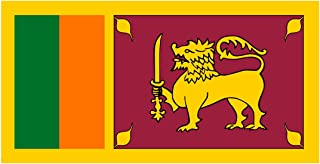 Sri Lankan Flag Decal - Democratic Socialist Republic of Sri Lanka - Five Inch Wide Full Color Decal, Sticker, for Indoor ...
