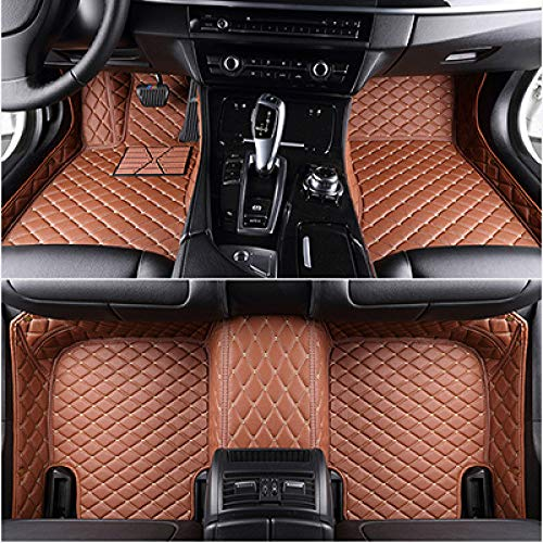 YJLOVK para un for Custom Car Floor mats for All 7-Seat Models for Toyota BMW Mercedes Audi kia for All Models Car Accessories,Brown