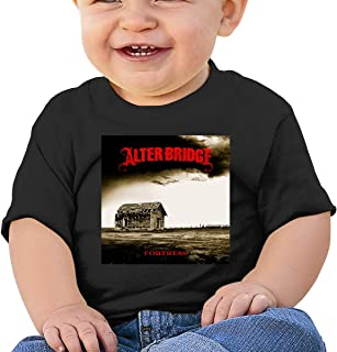 Alter Bridge Fortress Cotton Washed Baby Boy Girls Funny Summer Tshirt