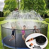 Urbenfit Trampoline Sprinkler Outdoor Trampoline Water Sprinkler for Children, Water Park Game Trampoline Water Toy Spray Sprinkler Hose Accessories for Fun Garden Party