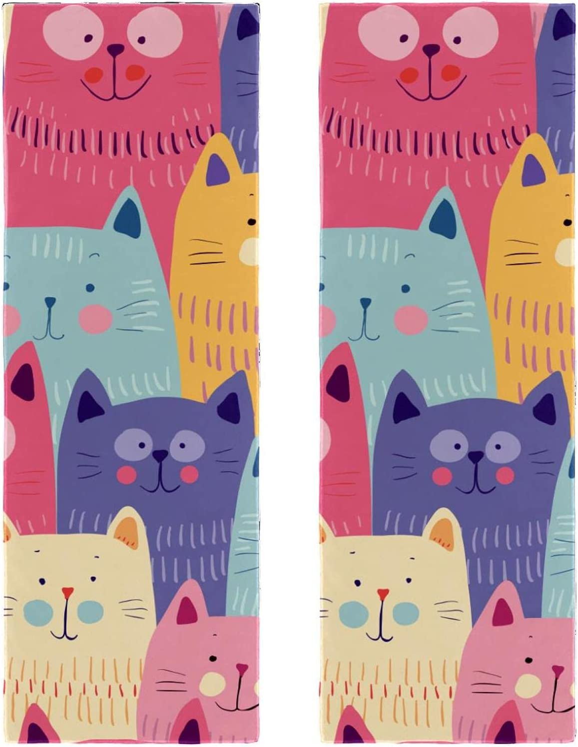 Fast Drying Microfiber Towels 2 Indianapolis Mall Challenge the lowest price Happy Cats Packs Printing Doodle