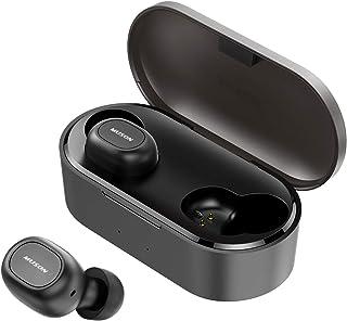 MUSON(ムソン) 完全ワイヤレスイヤホン Bluetooth 5.0 ワイヤレス イヤホン AAC対応 35時間再生 高音質 Bluetooth 自動ペアリング 連続再生 左右独立 両耳 片耳 防水 Hi-Fi 小型 軽量 TWS ブルートゥース 左右分離[メーカー1年保証] Move ブラック