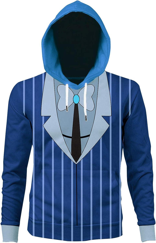 Fengstore Hazbin Hotel Alastor Shirt Long Sleeve Pullover Sweatshirt 3D Printed Round Neck for Men Women Gift