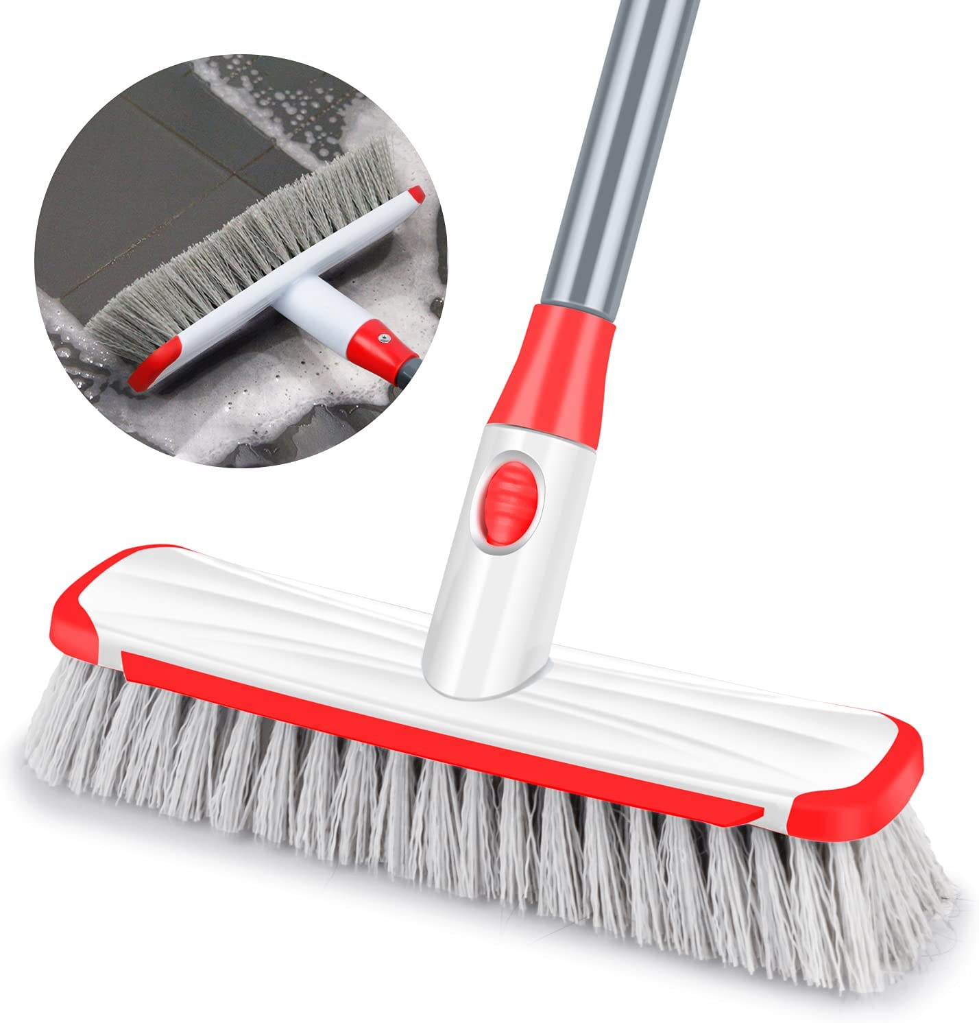 Floor Scrub Ranking TOP13 Limited time for free shipping Brush with Long Handle 2 1 Adjustable Scrape in and