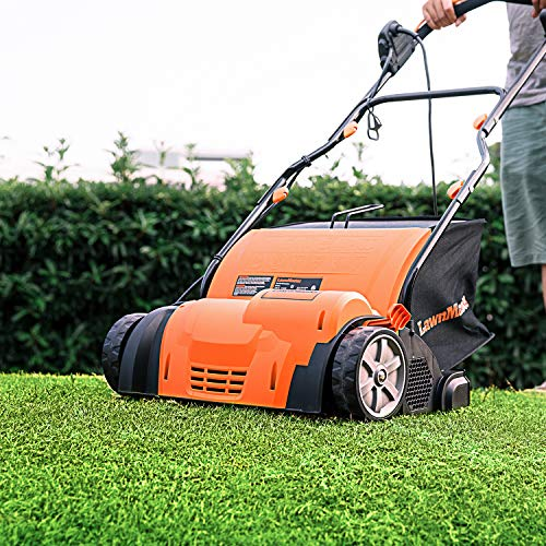LawnMaster GV1314 Scarifier and Lawn Dethatcher 14-Inch 12.5AMP