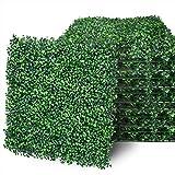 HWT 12 Pcs 20'X20' Artificial Boxwood Hedge Panels Faux...
