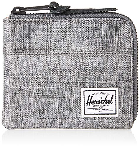 Herschel Unisex-Erwachsene Johnny RFID Zip Wallet Geldbörse, Rabe Kreuzschraffur, Einheitsgröße