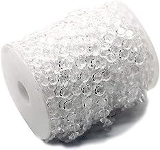 Ewparts Granos de guirnalda de 30 gránulos de diamante acrílico para colgar la decoración del hogar (transparente)
