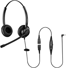 $33 » Sinseng Corded 2.5mm Headset for Panasonic Cordless Phones Telephone Headset with Noise Cancelling Microphone Mute for Off...