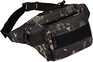 CREATOR Tactical Fanny Pack for Men Waist Bag Hip Belt Outdoor Hiking Fishing Bumbag Military Utility Hip Pack Large Camo ...