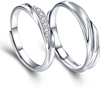 Mens Womens Endless Love Silver Rings Adjustable Ring Swarovski Cubic Zirconia Wedding Ring Promise Ring Couples Ring