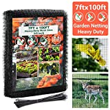 FARAER Garden Bird Netting, Heavy Duty 7x100 Feet Deer Fence Netting Crop...