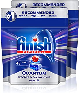 Finish Dishwasher Detergent Tablets, Quantum Max, 90 tabs (Pack of 2)
